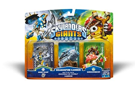 SKYLANDERS GIANTS BATTLE PACK #1 - Dragonfire Cannon - Chop Chop - Shroomboom