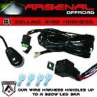 #1 Arsenal Offroad LED Light Bar Universal Wiring Harness - 40 Amp Relay ON/OFF Switch, great for LED Work Lights, ATV, UTV, Offroad Trucks, 4x4, SUV, Polaris Razor RZR, Yamaha, Ranger