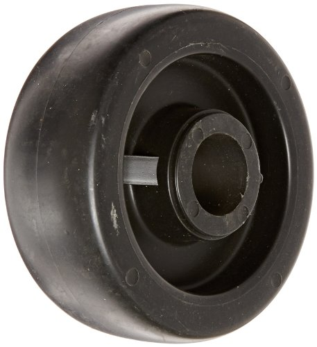 "Shepherd 618775 Regent/Monarch 5"" Diameter x 2"" Width Polyolefin Wheel, 650 lbs Capacity, Black - 1"