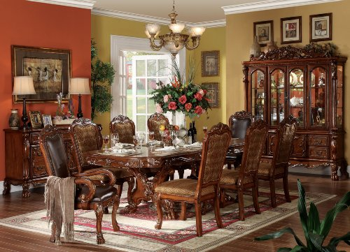 Exceptionnel ACME 12150 SET Dresden 9 Piece Formal Dining Set, Table/6 Chairs