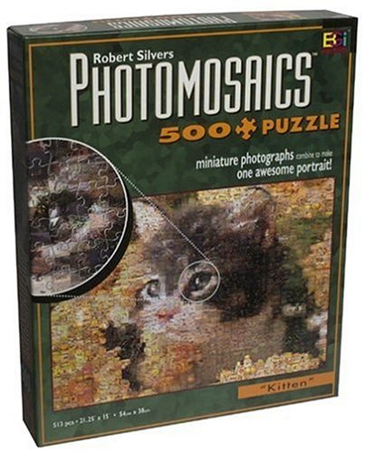 Photomosaic 500-piece Jigsaw Puzzle: Kitten