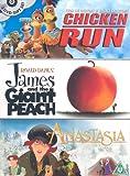 Chicken Run/James And The Giant Peach/Anastasia [DVD]