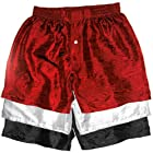Set of Three Silk Boxers by Royal Silk - BLACK WHITE & RED - LARGE 35-36