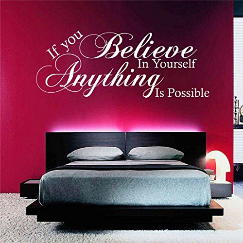 Believe in Yourself Possible Wall Art Quote Sticker Mural Decal transfer print