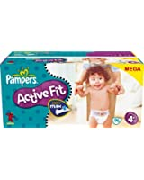 Pampers - 81261299 - Active Fit Couches - Taille 4+ Maxi + (9-20 Kg) - Megapack X 96 Couches