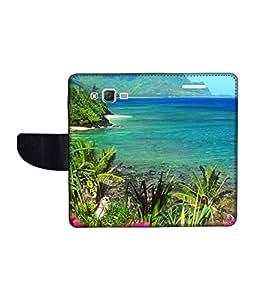 KolorEdge Printed Flip Cover For Samsung Galaxy J2 Multicolor - (1477-47KeMLogo11410SamJ2)