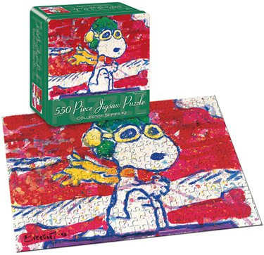 Cheap Fun USAopoly Snoopy by Everhardt Low Fat Meal Over Santa 500 Piece Jigsaw Puzzle (B000BXJZK2)