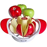"Black Friday Sale Madness!! - Apple Slicer, Corer, Cutter and Divider with an 8 Slice 3 1/2"" Diameter Stainless Steel Blade. This Stylish Fruit Wedger Brought to You By B-chef Comes with Raised Offset Rubber Grips Allowing for Greater Leverage to Help Ease the Strain on Your Fingers. Dishwasher Safe, This Sleek Little Gadget Is a Great Accessory to Compliment Your Peeler and Will Be the Perfect Addition to Your Kitchen"
