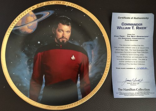 Star Trek Next Generation William T Riker Collector Plate