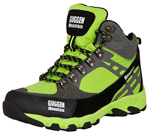 GUGGEN MOUNTAIN Scarpe da escursionismo Scarpe da trekking Scarpe da montagna Mountain Shoe donna M011 Verde EU 39