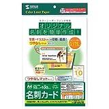 SANWA SUPPLY LBP-MMC10 カラーレーザー用名刺(つやなし・マット)