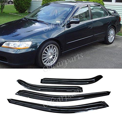 VioGi Fit:98-02 Honda Accord 4-Door Sedan 4pcs Front + Rear Smoke Sun/Rain Guard Vent Shade Window Visors (98 Honda Accord Visors compare prices)