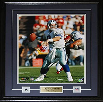 Troy Aikman Dallas Cowboys 16x20 signed frame