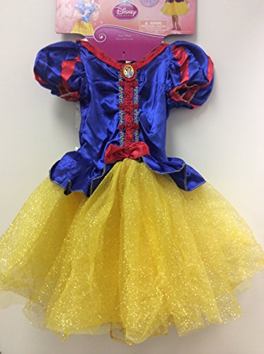 Disney Princess Disguise Snow White Costume With Headband Cape And Gloves Size M 7-8