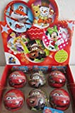 Disney CARS Tin egg treats-Christmas Tree Ornament with cookies-STOCKING STUFFER-SHIPPING FROM USA
