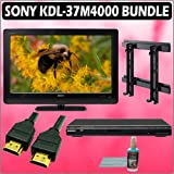 Sony Bravia M-Series KDL-37M4000 37in. 720P LCD HDTV + Sony DVD Player w/ Wall Mount Accessory Kit