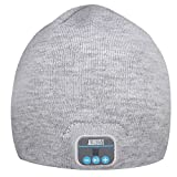 August EPA20 Bluetooth 帽子 Bluetoothニット帽子 音楽やハンズフリー通 話可能 スマホ iPhone iPad PC タブレットなどに対応 灰色