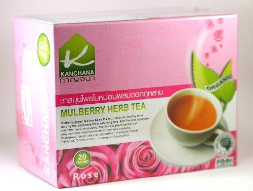 Kanchana 100% Organic Mulberry Tea With Rose ,20-Count Tea Bags