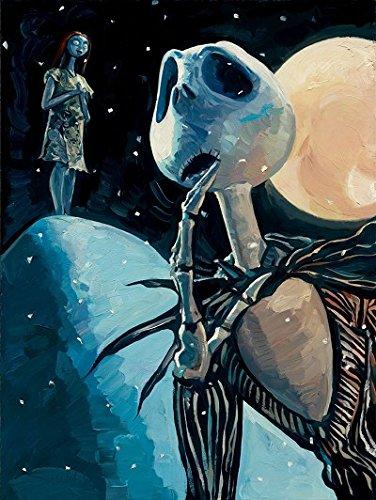 Jim Salvati Were Simply Meant To Be Hand Embellished Giclee On Canvas - From The Nightmare Before Christmas Disney Art