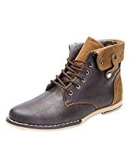 Guardian Brown Leather Boots For Men