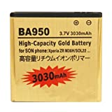 BA950 3030mAh High Capacity Gold Business Battery for Sony Xperia ZR / M36h / C5502 / C5503 by Online-Enterprises