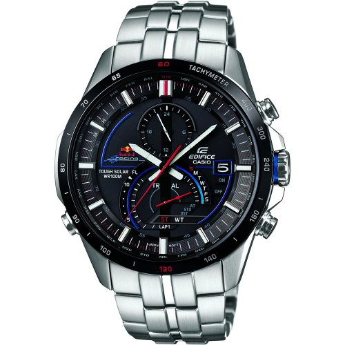 Casio EQS-A500RB-1AVER Mens Edifice Silver Chronograph Watch