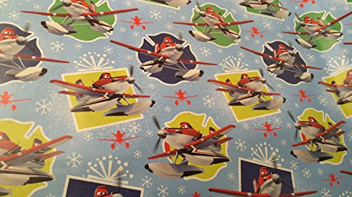 [Christmas Wrapping Pixar McQueen Lightning Planes Holiday Paper Gift Greetings 1 Roll Design Festive Wrap] (Homemade Lightning Mcqueen Costumes Toddler)