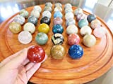 Natural Stones ソリティア 紫檀 丸玉 50mm(天然石のボードゲーム)