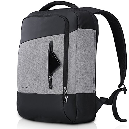 JSVER Slim Laptop Business Backpack Water Resistant Travel Computer Bag for 15.6 Inch