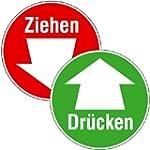 T�rschilder f�r Glast�ren Dr�cken / Z...