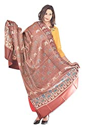 Weavers Villa - Womens Chashme Bulbul Butterfly Design Woolen Shawls ,Stoles