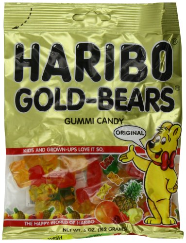 Haribo Gummi Candy, Original Gold-Bears, 5-Ounce Bags (Pack of 12) (Year Supply Of Gum compare prices)