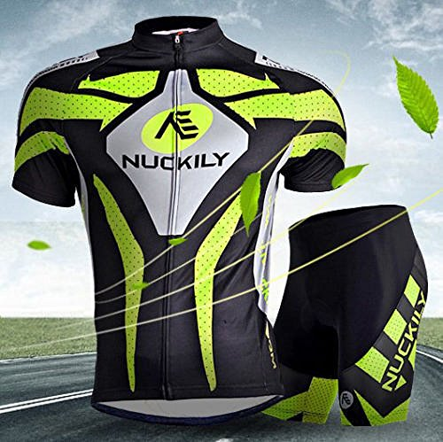 Sports Men Cycling Wear Bike Short Sleeve Clothing Bicycle Set Jersey Shorts (M) (Suarez Cycling Shorts compare prices)