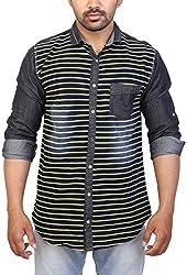 Trezer Live Men's Casual Shirt (Black, X-Large)