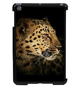 PRINTVISA The Tiger Premium Metallic Insert Back Case Cover for Apple IPad Mini 2 - D6032