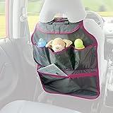 DIAGO 30075.74340 - Organizador para el coche, color gris y rosa.