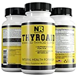 Best Thyroid Support Supplement - Unique Complex - Promotes Weight Loss & Reduce Fatigue - Supports Healthy Metabolism - Natural Formula with L-Tyrosine, Ashwagandha Root, Kelp & Iodine (60)