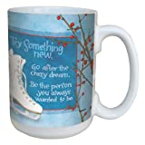 Tree-Free Greetings lm43479 Winter Figure Skates by Robin Pickens Ceramic Mug with Full-Sized Handle, 15-Ounce