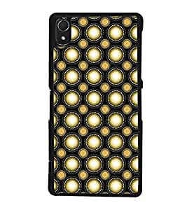 Fuson Premium 2D Back Case Cover Polka dots pattern With red Background Degined For Sony Xperia Z3::Sony Xperia Z3 D6653 D6603