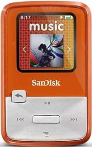 SanDisk Clip Zip 4GB MP3 Player with FM Radio - Orange