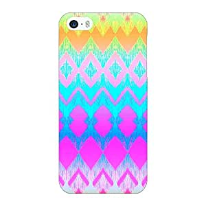 Jugaaduu Psychdelic Triangles Pattern Back Cover Case For Apple iPhone 5c