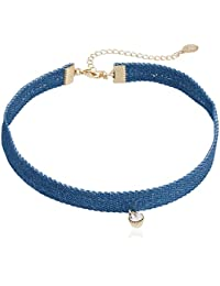 Accessorize Choker Necklace For Women (Blue) (MN-28294240001)