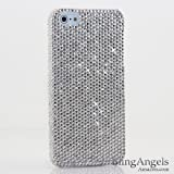 Cheapest price for BlingAngels® iphone 5 5S Bling Case Cover Faceplate Swarovski Luxury Diamond White Silver Clear Crystals Design (100% Handcrafted by BlingAngels with Pink Carrying Pouch)