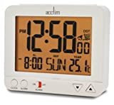 Acctim 71412 Madera Alarm Clock, White, LCD, Radio Controlled