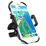 Bike Phone Holder Bicycle Mount, TaoTronics Universal Cradle for iOS, Android Smartphones, GPS, and Other Compatible Devices, Slide-Proof Clamp, 360 Degrees Rotatable, Rubber Strap