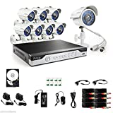 Security Camera 8CH 960H HDMI DVR Outdoor 700TVL Home Surveillance Security Camera System 500GB