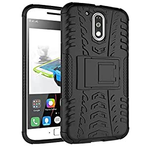 Ayra care Hybrid Military Grade Armor Kick Stand Back Cover Case for Coolpad Note 3 Lite, 5 Inch (Black)