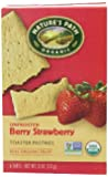 Nature's Path Organic Toaster Pastries, Berry Strawberry (Not Frosted), 6-Count Boxes (Pack of 12)