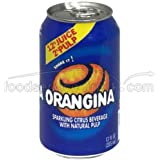 Orangina Sparkling Citrus Beverage with Natural Pulp, 12 Ounce - 6 per pack -- 4 packs per case.