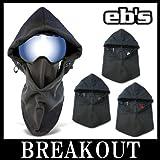 eb's / エビス HOODED WARMER フェイスマスク ネックウォーマー スノーボード BK-BK